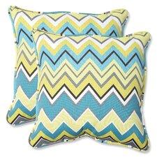 Great price Zig Zag Indoor/Outdoor Throw Pillow (Set of 2)