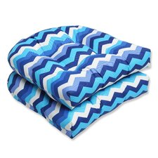 Panama Wave Outdoor Seat Cushion (Set of 2)