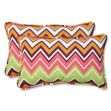 Zig Zag Indoor/Outdoor Lumbar Pillow (Set of 2)