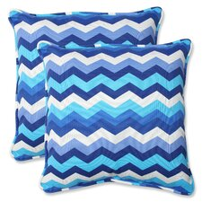Panama Wave Indoor/Outdoor Throw Pillow (Set of 2)