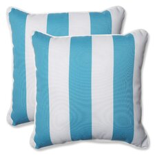 Cabana Stripe Indoor/Outdoor Throw Pillow (Set of 2)