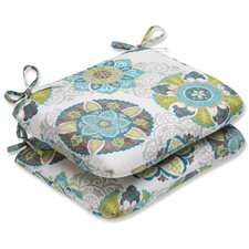 Allodala Oasis Outdoor Rounded Corner Seat Cushion (Set of 2)