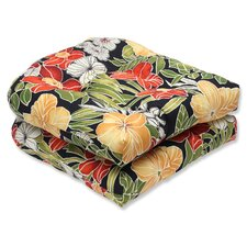 Clemens Noir Outdoor Dining Chair Cushion (Set of 2)