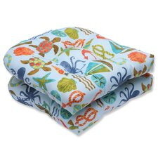 Seapoint Outdoor Dining Chair Cushion (Set of 2)