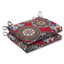 Cera Garden Outdoor Dining Chair Cushion (Set of 2)