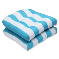 Cabana Stripe Outdoor Dining Chair Cushion (Set of 2)