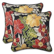 Clemens Noir Indoor/Outdoor Throw Pillow (Set of 2)