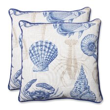 Sealife Indoor/Outdoor Throw Pillow (Set of 2)