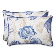 Sealife Indoor/Outdoor Lumbar Pillow (Set of 2)