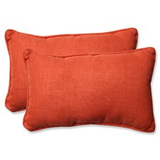 Rave Coral Indoor/Outdoor Throw Pillow (Set of 2)