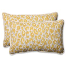 Snow Leopard Sunburst Indoor/Outdoor Throw Pillow (Set of 2)