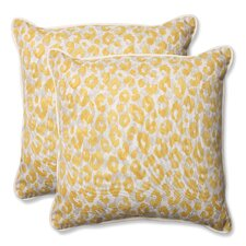 Sale Snow Leopard Sunburst Indoor/Outdoor Throw Pillow (Set of 2)