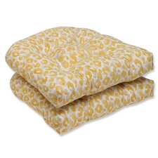 Snow Leopard Sunburst Outdoor Dining Chair Cushion (Set of 2)