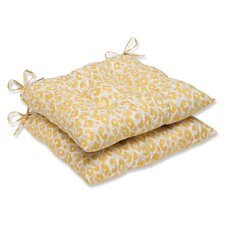Snow Leopard Sunburst Seat Cushion (Set of 2)