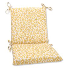 Snow Leopard Sunburst Outdoor Lounge Chair Cushion