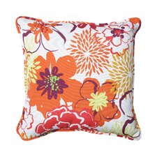 Floral Fantasy Indoor/Outdoor Throw Pillow (Set of 2)