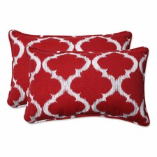 Kobette Indoor/Outdoor Lumbar Throw Pillow (Set of 2)