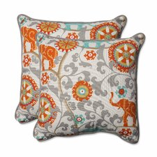 Menagerie Indoor/Outdoor Throw Pillow (Set of 2)
