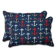 Anchor Allover Indoor/Outdoor Lumbar Pillow (Set of 2)