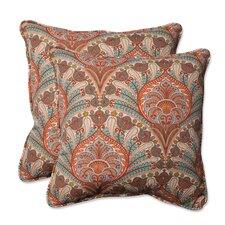 Crescent Beach Indoor/Outdoor Throw Pillow (Set of 2)