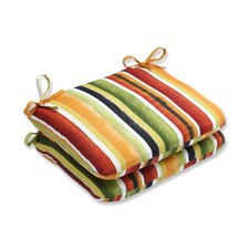 Dina Noir Outdoor Dining Chair Cushion (Set of 2)