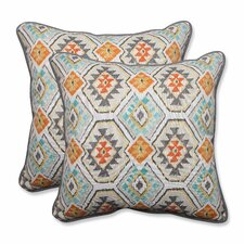 No Copoun Eresha Oasis Outdoor/Indoor Throw Pillow (Set of 2)