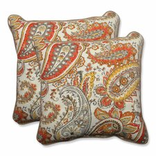 Hadia Sunset Indoor/Outdoor Throw Pillow (Set of 2)