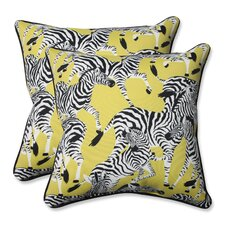 Herd Together Wasabi Indoor/Outdoor Throw Pillow (Set of 2)