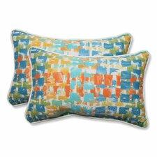 Quibble Sunsplash Indoor/Outdoor Throw Pillow (Set of 2)