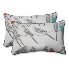 Retweet Mango Indoor/Outdoor Throw Pillow (Set of 2)