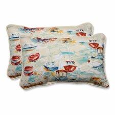 Spinnaker Bay Sailor Indoor/Outdoor Lumbar Pillow (Set of 2)