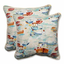 Spinnaker Bay Sailor Indoor/Outdoor Throw Pillow (Set of 2)