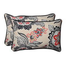 Tilt and Twirl Outdoor/Indoor Throw Pillow (Set of 2)