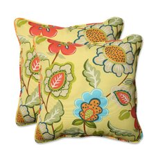 Herry Up Timmo Sunshine Outdoor/Indoor Throw Pillow (Set of 2)