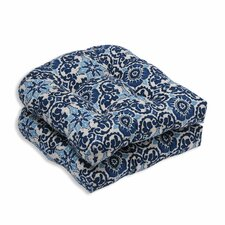 Woodblock Prism Outdoor Dining Chair Cushion (Set of 2)