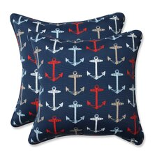 Anchor Allover Indoor/Outdoor Throw Pillow (Set of 2)