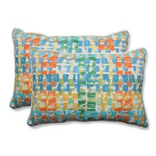 Quibble Sunsplash Indoor/Outdoor Throw Pillow (Set of 2)