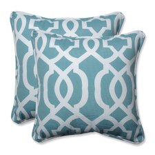 Indoor/Outdoor New Geo Throw Pillow (Set of 2)