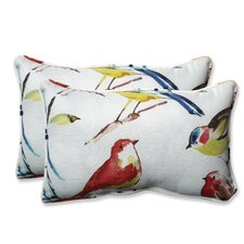 Pillow Perfect Outdoor / Indoor Bird Watchers Summer Throw Pillow (Set of 2)
