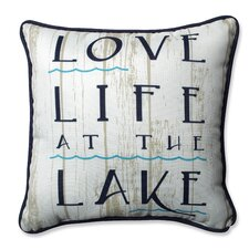 Comparison Lakelife Throw Pillow