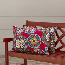 Cera Garden Indoor/Outdoor Lumbar Pillow (Set of 2)