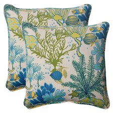 Splish Splash Corded Indoor Outdoor Throw Pillow (Set of 2)