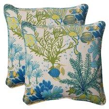Spacial Price Splish Splash Corded Indoor Outdoor Throw Pillow (Set of 2)