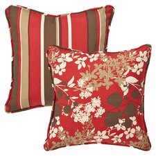 All Weather Reversible Indoor/Outdoor Throw Pillow (Set of 2)