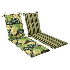 Reversible Tropique Outdoor Chaise Lounge Cushion