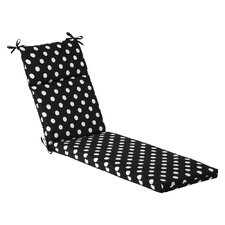 Polka Dot Outdoor Chaise Lounge Cushion
