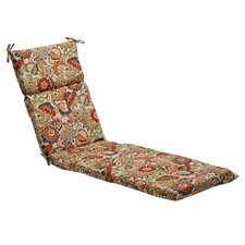 Floral Outdoor Chaise Lounge Cushion
