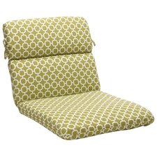 Geometric Outdoor Lounge Chair Cushion