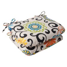 Coupon Pom Pom Outdoor Seat Cushion (Set of 2)