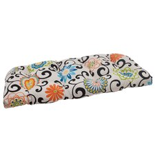 Pom Pom Outdoor Loveseat Cushion